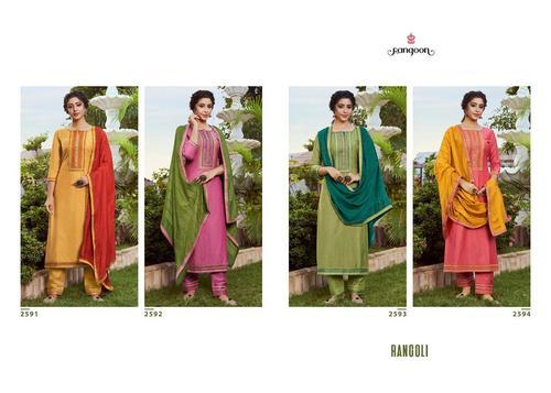 Rangoli Silk Kurti Catalogue Set