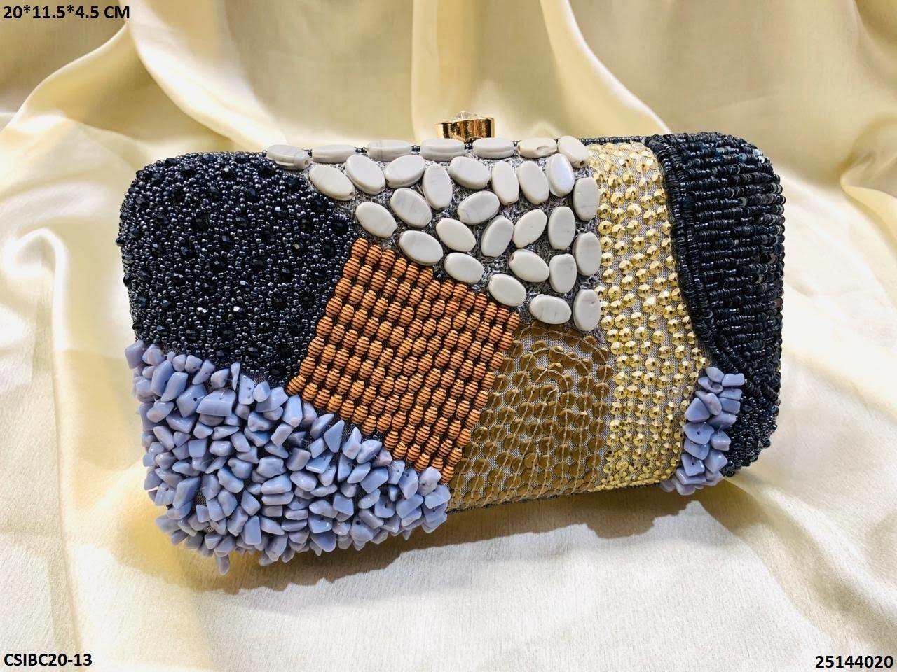 Designer Bridal Box Clutch