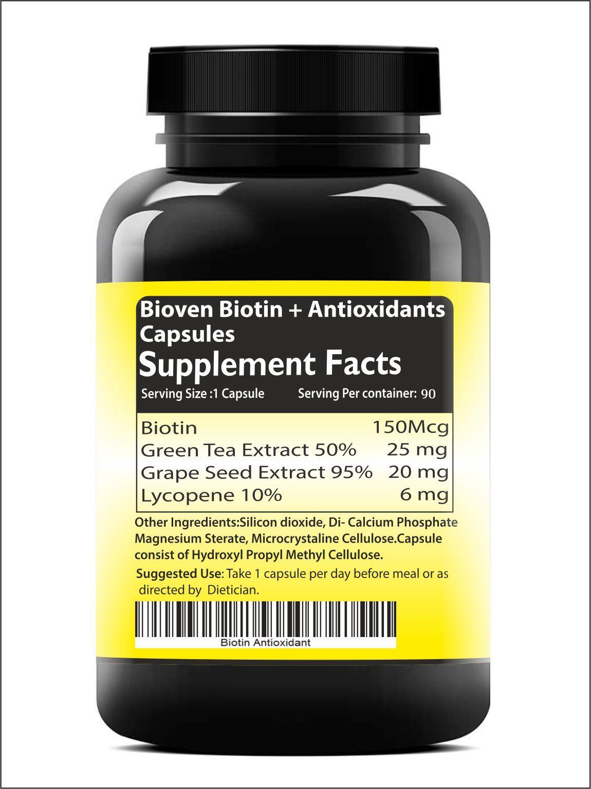 Biotin Skin, Hair and Nail Care Capsules