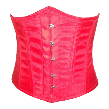 Red Poly Tapta Fabric Underbust Plus Size Corset For Waist Training Bustier Top