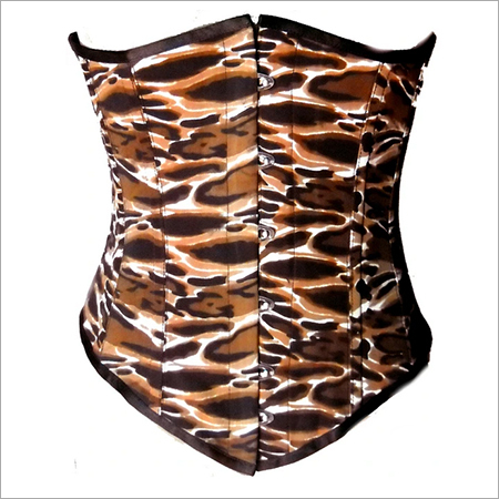 Tigerf Animal Print Polyster Longline Underbust Plus Size Corset Waist Training