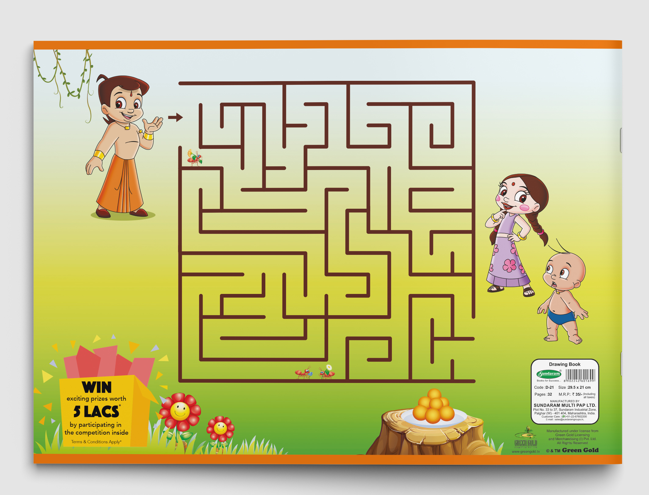 Chhota Bheem Drawing Book - 32 Pages (D-21)