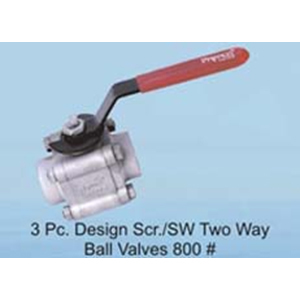 1,2,3 Pc Design Scr SW Ball Valves