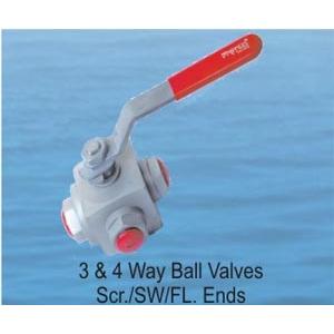 3 and 4 Way Ball Valves