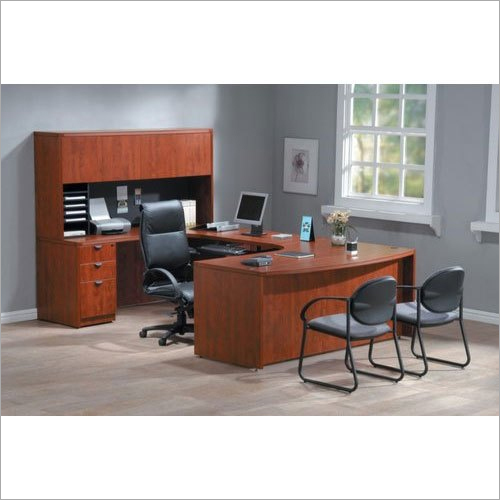 Brown Wooden Office Table