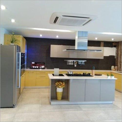 HDMR Wood U Shape Modular Kitchen
