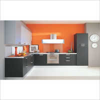 Plywood L Shape Modular Kitchen