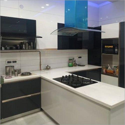 T Shape Modular Kitchen