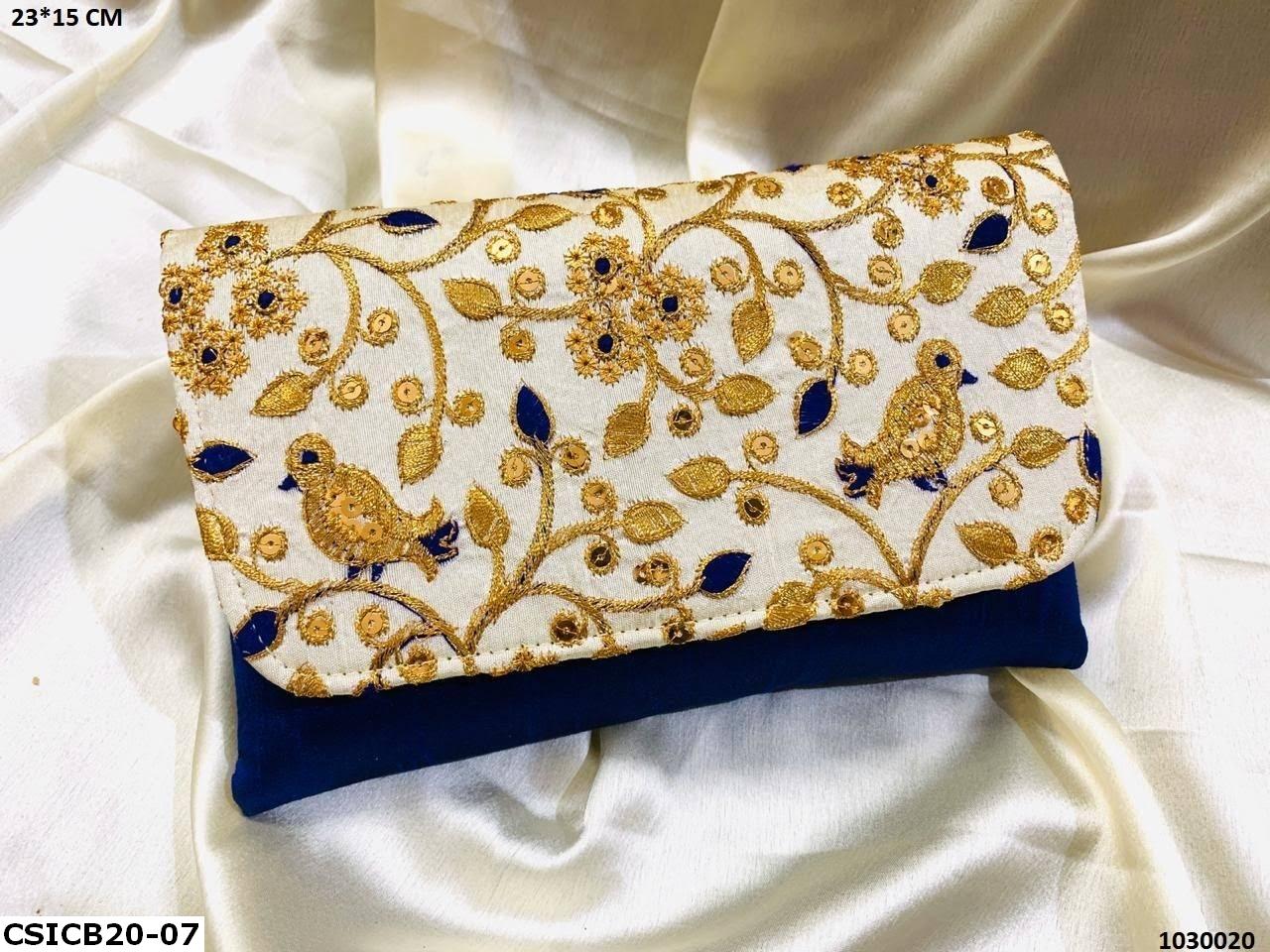 Bird Embroidery Ethnic Clutch Bag