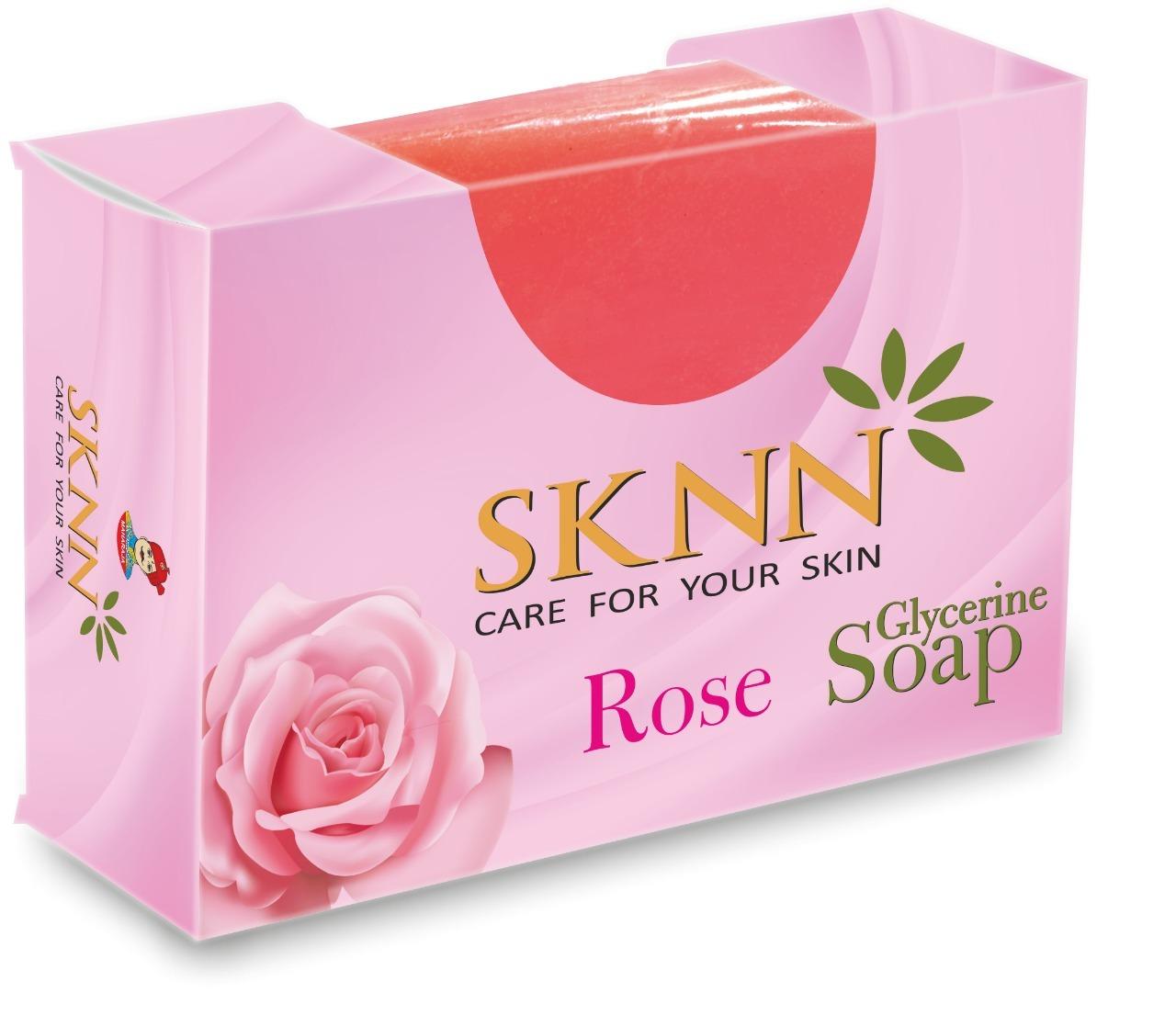 Sknn Rose Glycerine Soap