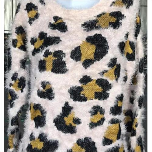 Used Printed Ladies Sweater