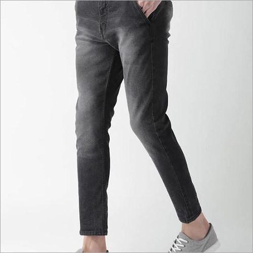 Mens Black Slim Fit Stretchable Jeans