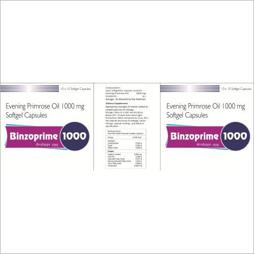 Binzoprime 1000 - Evening Primrose Oil 1000 mg Softgel Capsules