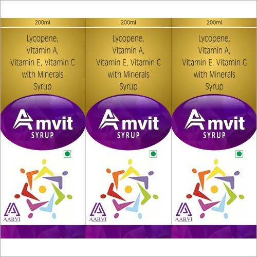 Lycopene Vitamin A Vitamin E Vitamin C with Mineral Syrup