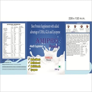 Health Protein Supplement With Added Advantage of DHA, GLA And Lycopene