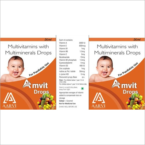 30 ml Multivitamin with Multiminerals Drops
