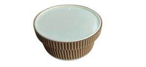 250ml Paper Ripple Container With Lid