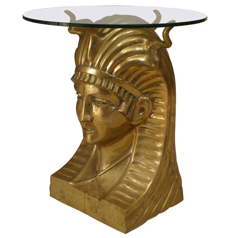 Egyptian Pharaoh Glass Table