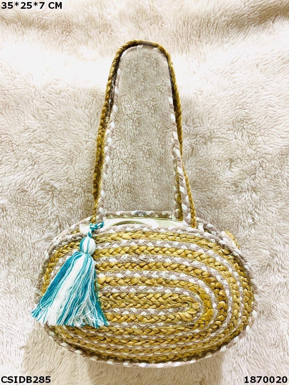 Designer Jute & Dari Cotton Handbag