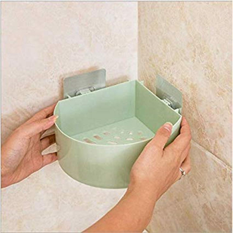 Adhesive Corner Plastic Shelf