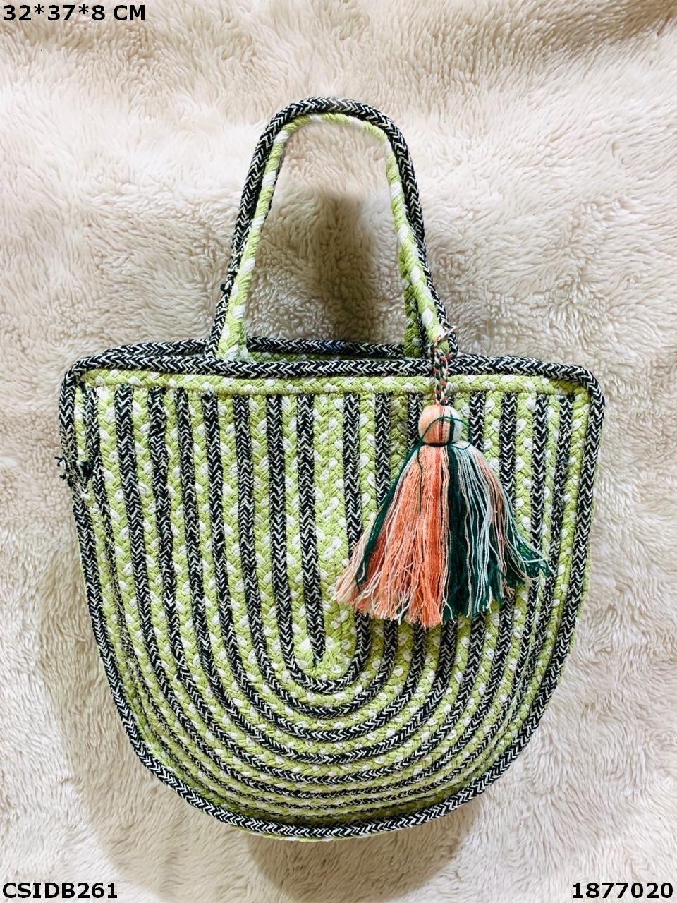 Exclusive Jute & Dari Cotton Handbag