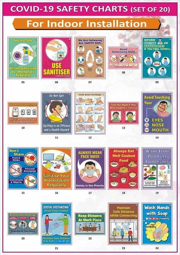 Covid Safety Charts - Indoor (Set of 20)