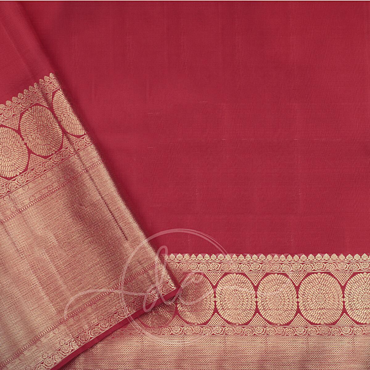 Latest Desiger Red Colour Kanchipuram Silk Saree