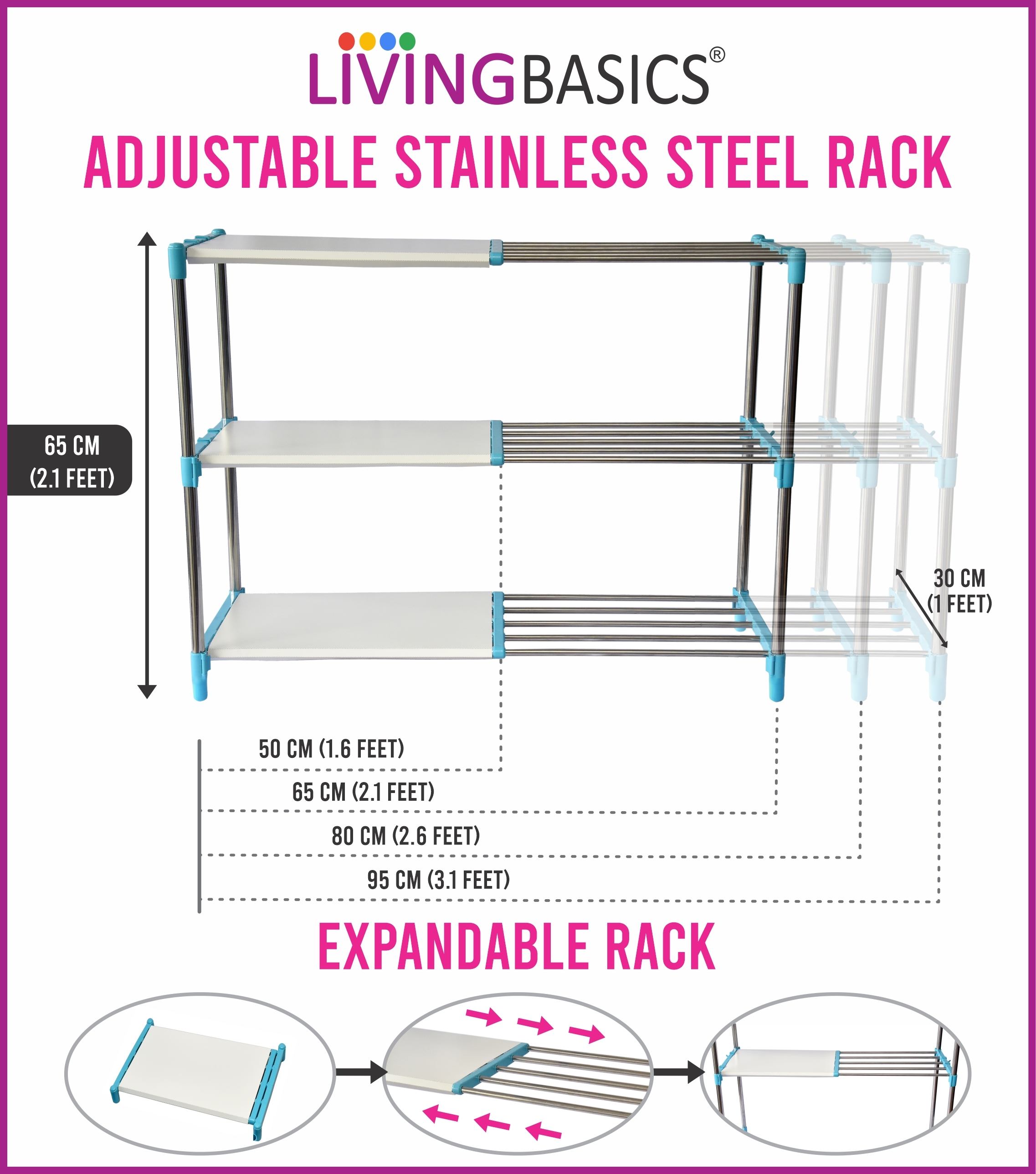 Stainless Steel Bathroom Rack(3 Layer)