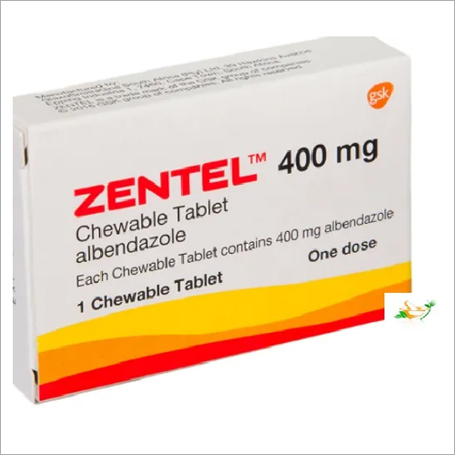 Brand Zentel 400mg (Albendazole) Chewable Tablets