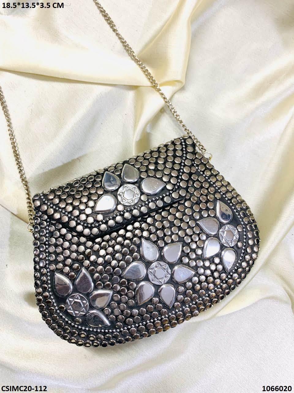 Exclusive Designer Metal Mosaic Clutches