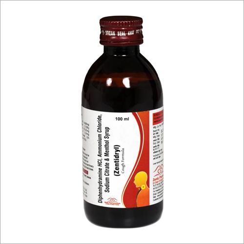 Diphenhydramine HCI Amonium Chloride Sodium Citrate And Menthol Syrup