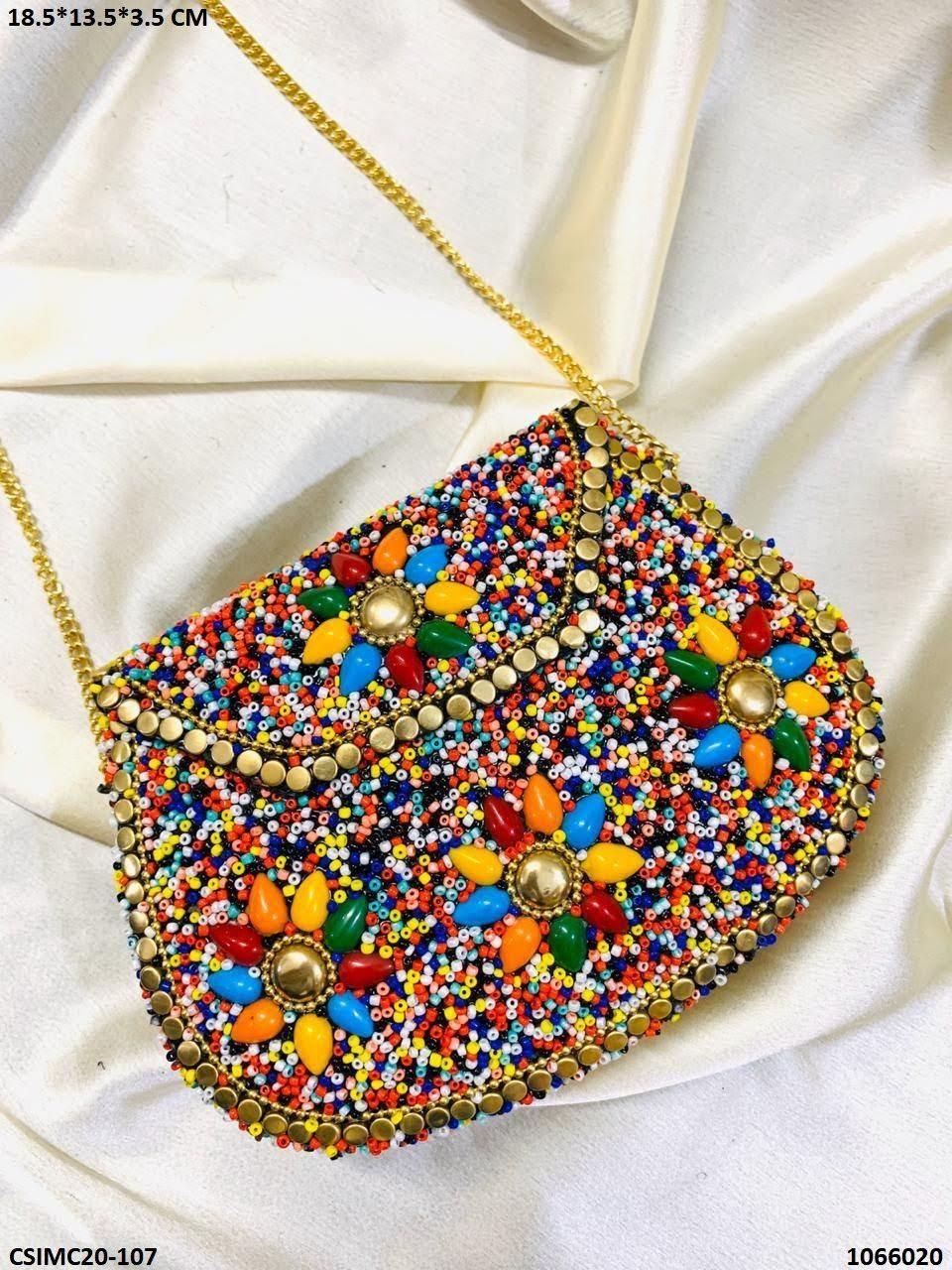 Trendy Designer Metal Mosaic Clutches