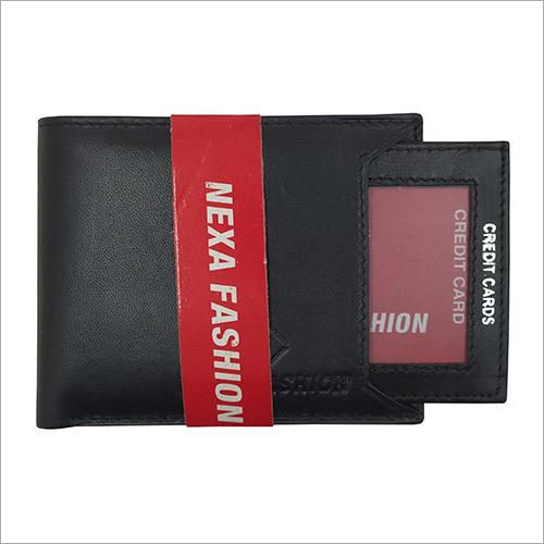 Mens Black Genuine Leather Wallet.