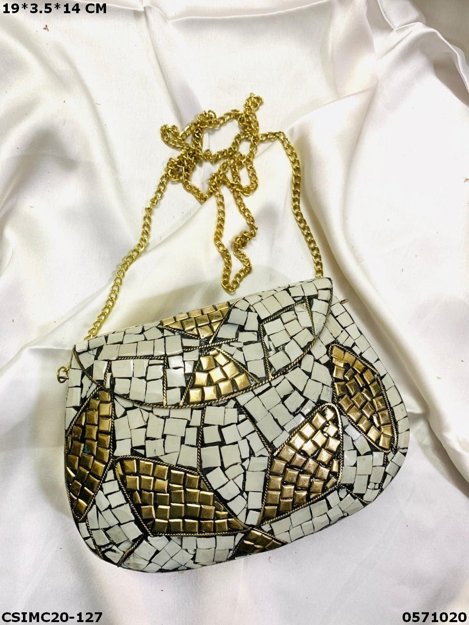 Stylish Metal Mosaic Clutches
