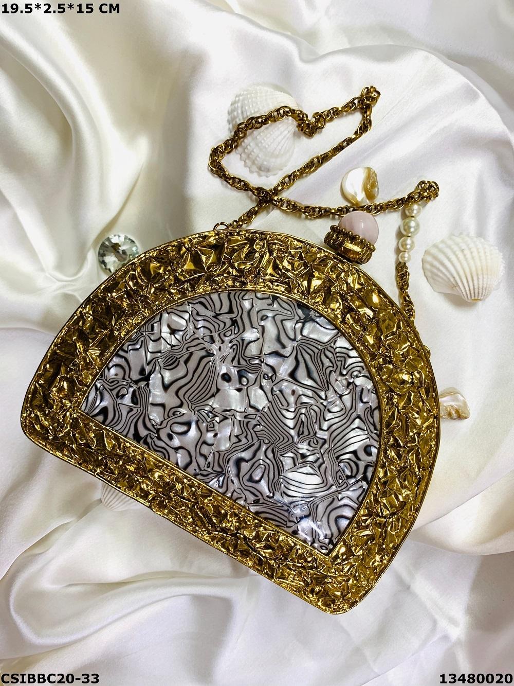 Designer & Exclusive Brass MOP Clutches
