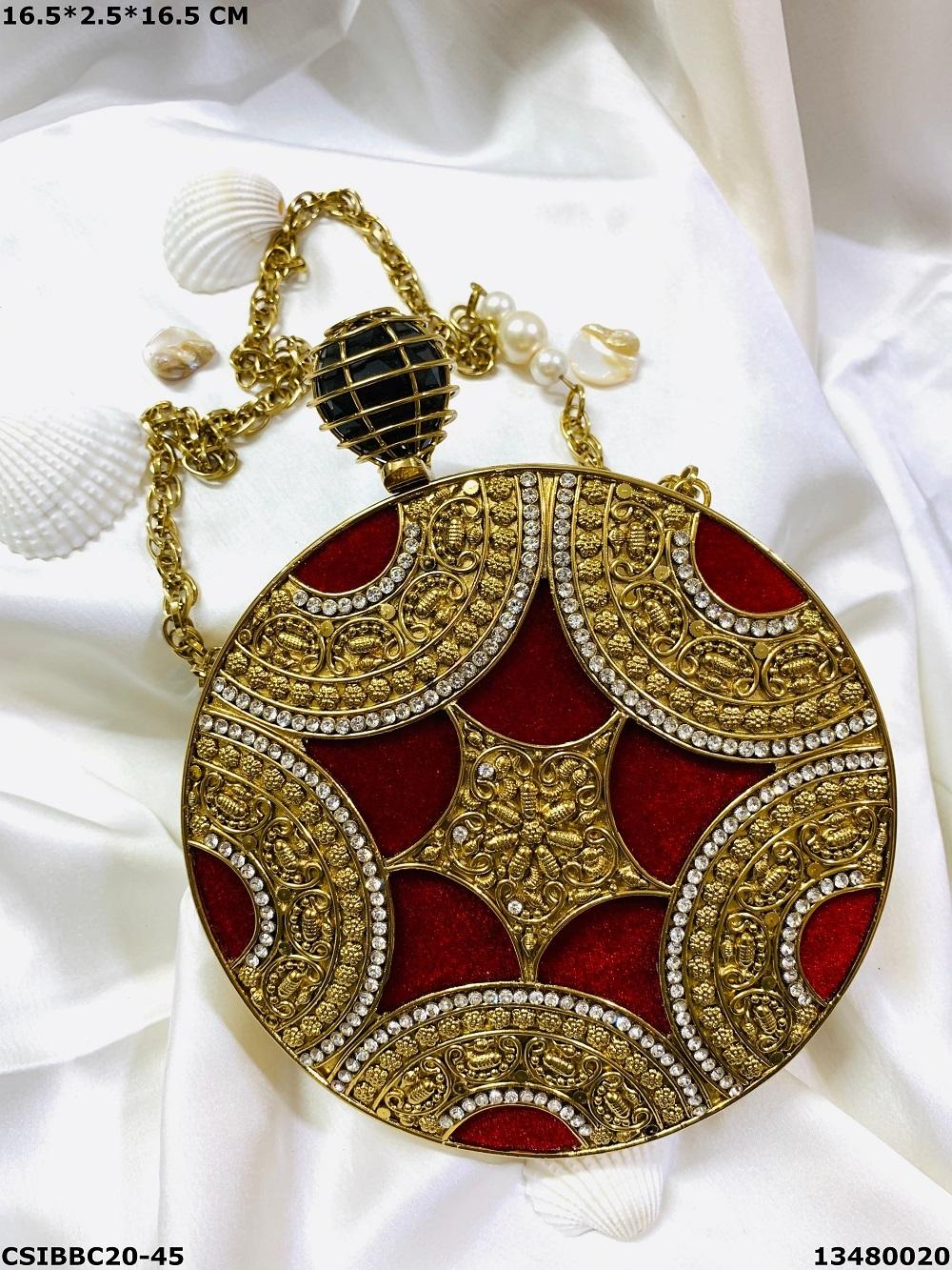 Exclusive Brass MOP Clutches