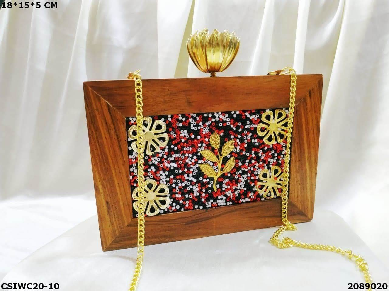 Designer Wooden Clutches