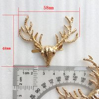 New Fashion Individuation Decoration Alloy Metal Gold Animal Deer Shape Metal Plate Buckle for Bag AccessoriesHD550-20