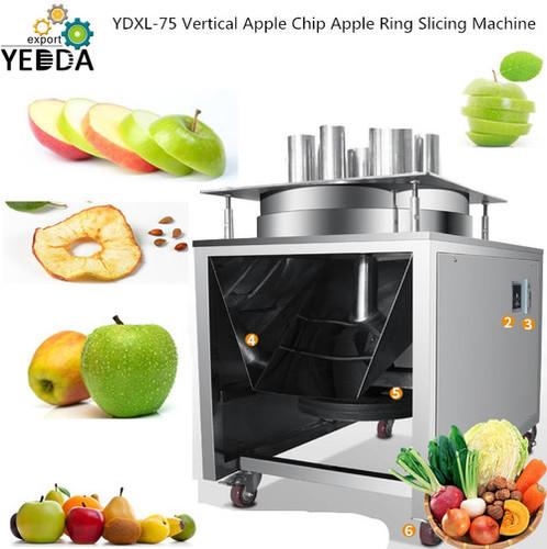 YDXL-75 Vertical Apple Chip Apple Ring Slicing Machine