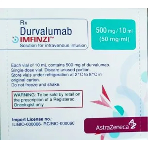 500 mg Durvalumab Soloution For Intravenous Infusion
