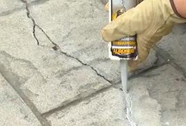 Crack repair work
