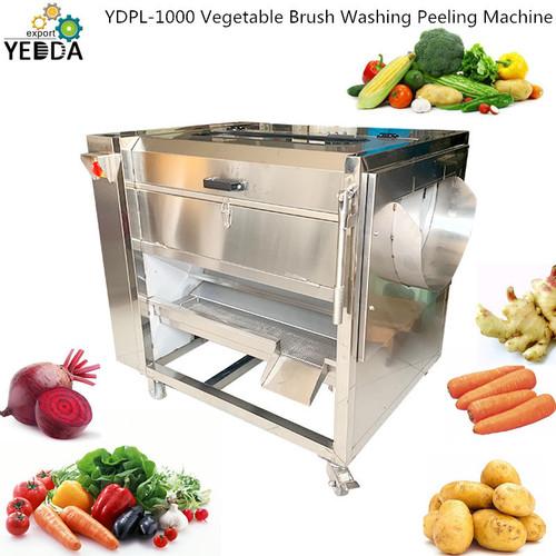 YDPL-1000 Vegetable Brush Washing Peeling Machine
