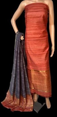 HIGH QUALITY PURE GHEECHA TUSSAR SILK KURTI DUPATTA SET 2.5 MTRS EACH.
