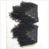 Virgin Kinky Curly  Black Clip On Hair Extensions,virgin Hair