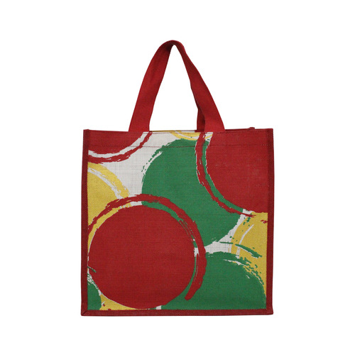 PP Laminated Jute Bag With Web Handle