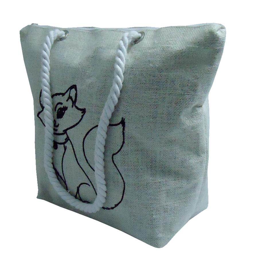 PP Laminated Jute Bag With Top Zip Closure & Twisted Rope Handle