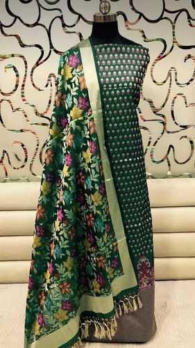 Banarasi cotton silk 3pes suit set