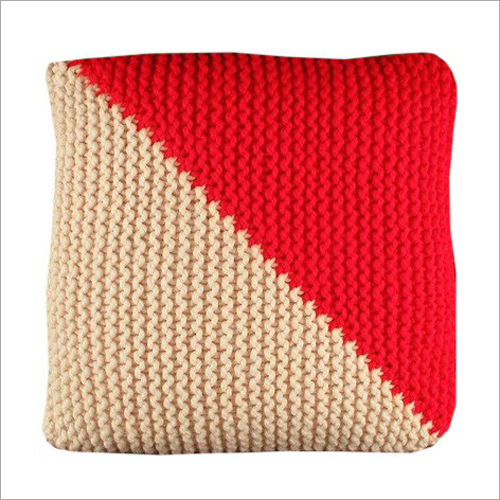 Hand Knitted Home Furnishing Cushion