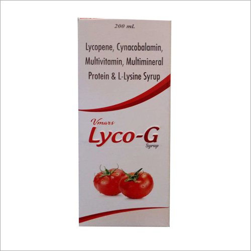 200 ML Lycopene, Cynacobalamin, Multivitamin, Multimineral Protein And L-Lysine Syrup