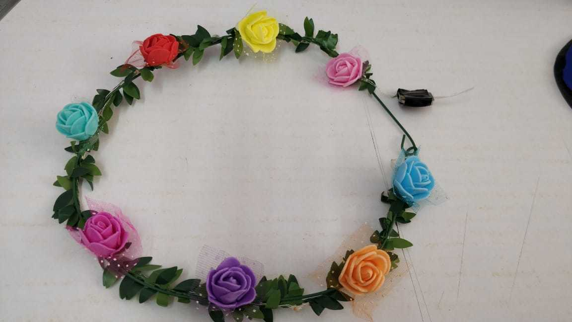 Floral Rose Flower LED Light Headband